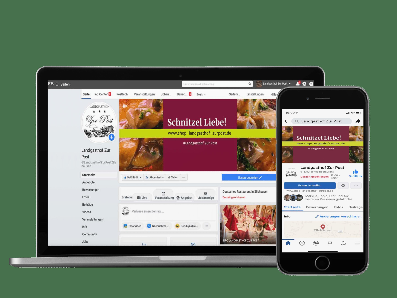 Webdesign am Beispiel eines Gastro Online Shops