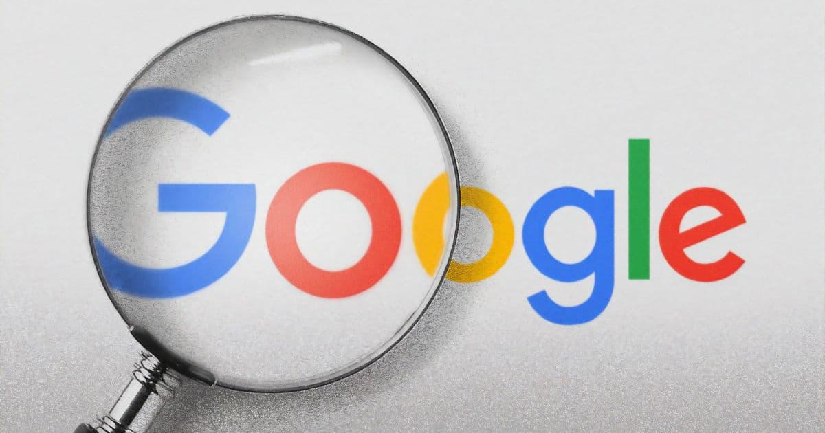 Google Business Eintrag mit Lupe auf Logo